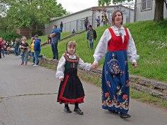 Neighbors strutting their best Norwegian stuff